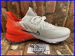 New Nike Air Zoom Infinity Tour Golf Shoes White Red CT0540-124 Vapor Mens Size