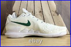 New Nike Air Zoom Vapor X Knit Mens Size 14 White/Clover Green Shoes AR0496-111