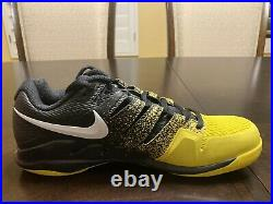 New Nike Court Air Zoom Vapor X Yellow Spray Tennis Sneaker Shoes Size US 8