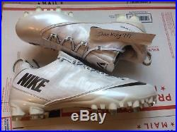 New Nike Zoom Vapor Carbon Fly 2 TD White Size 10.5 RARE Cleats 596630-102 +Bag