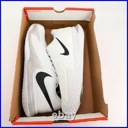Nike Court Air Zoom Vapor Cage 4 White Tennis Shoes CD0424-107 Mens Size 10.5