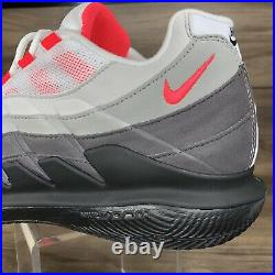 Nike Court Zoom Vapor X Air Max 95 Size 10 DB6064-100 Roger Federer Tennis Shoes