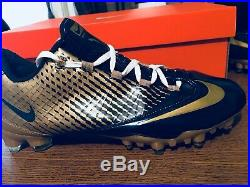 Nike Zoom Vapor Carbon Fly 2 TD Football Cleats Size 11 Navy/Gold. Nike ID